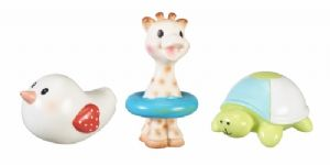 Sophie la girafe - Set of 3 bath toys